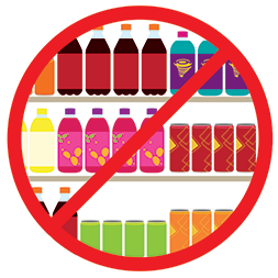 No sugary drinks helps maintain a healthy smile